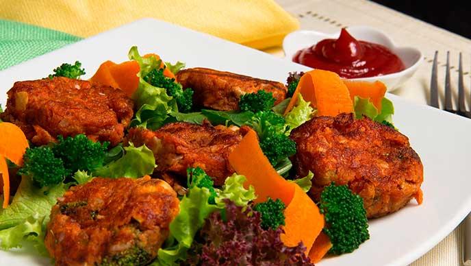 Torrejas de Verduras Fruco con Salsa de Tomate