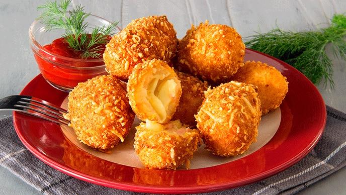 Croquetas de Papa Fruco con salsa de tomate Fruco